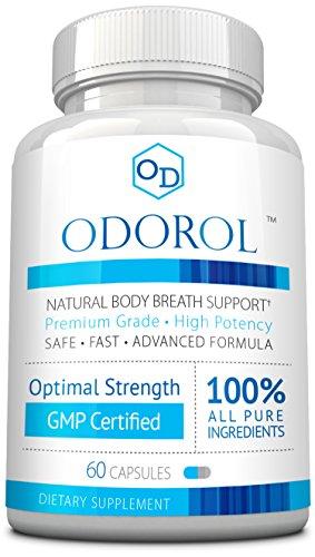 Odorol - Fast, Safe Way to Eliminate Bad Breath & Body Odor - Naturally Balances Bad & Good Bacteria & pH Levels – 1 Bottle