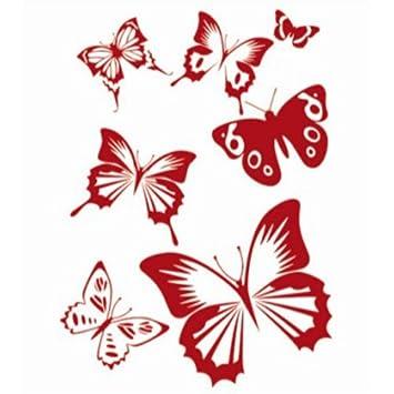 Pochoir De Peinture Murale Motif De Papillon Pour Décoration De Mur