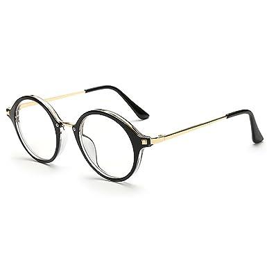 Fenck Retro Eyes Glasses Frame Men Women Vintage Myopia Eyeglasses Frame Plain Glasses GSp46UC4