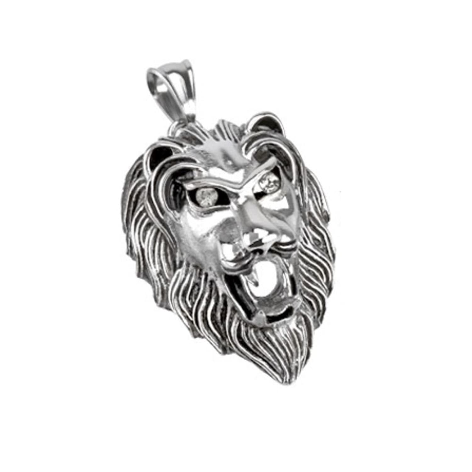 overstock accent product today shipping lion diamond and silver sterling bcbc gold free jewelry watches palmbeach over chain pendant