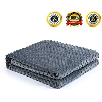 Minky Fabric Duvet Cover for Weighted Blanket, Bedding...