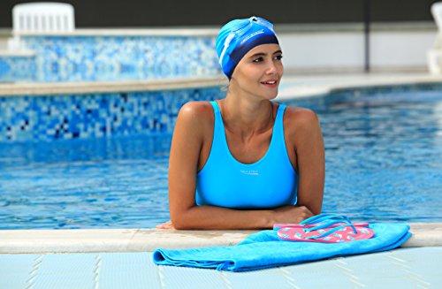 Aqua Speed® Maggy Legsuit–Bañador para mujer (3colores Tallas: 36–�?4) Dunkelblau-Blau-Hellblau 42