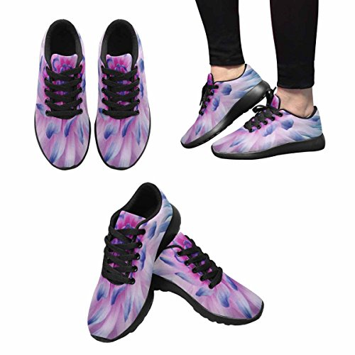 Interestprint Womens Jogging Running Sneaker Leggero Go Easy Walking Comfort Sport Scarpe Da Corsa Dalia Fiore Bianco Rosa Blu Multi 1