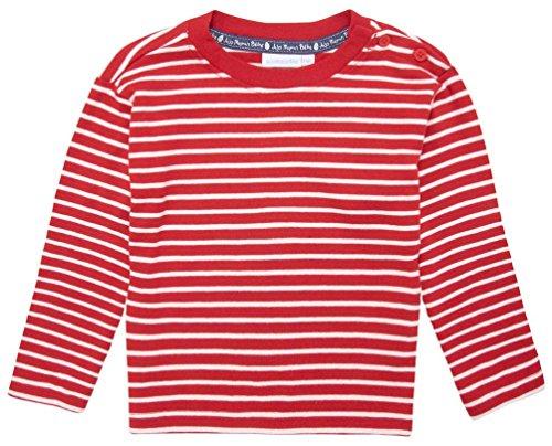 JoJo Maman Bebe Little Boys' Breton Top (Toddler/Kid) - Red/Ecru Stripe