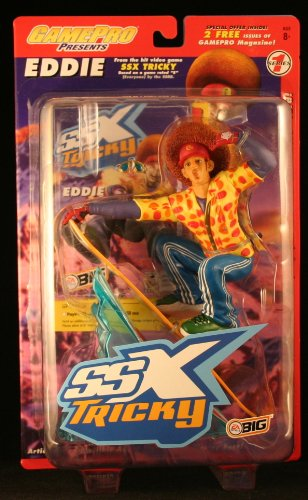 A SPORTS video game SSX TRICKY Series 1 Game Pro * 7 INCH * Action Figure & Snowboard ()