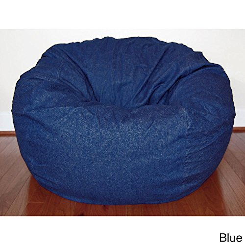 Ahh! Products Blue Denim Washable Large Bean Bag Chair by Ahh! Products