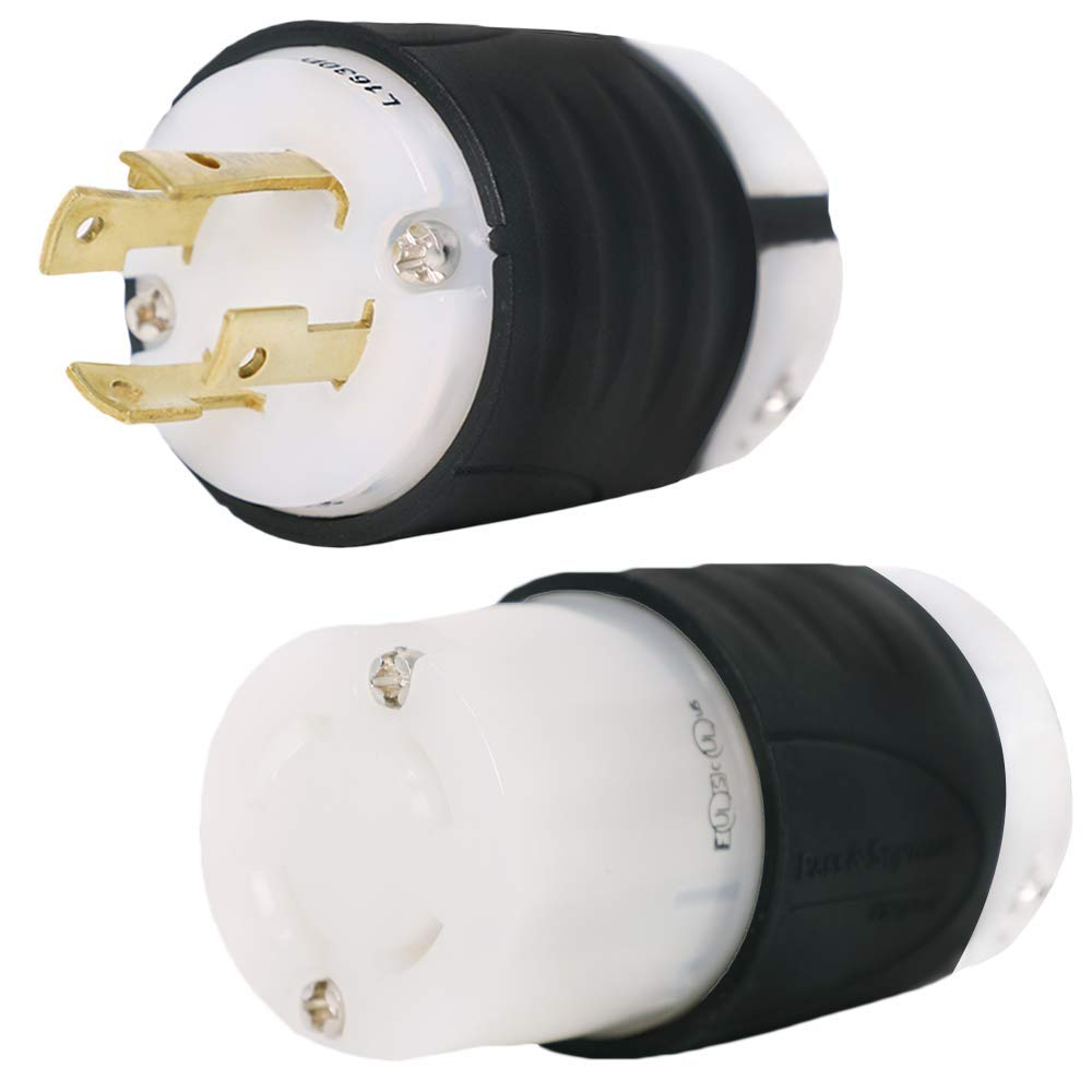 L16-30 Plug and Connector Set Rated for 30A, 480V, 3-Phase - Iron Box Part  # IBX-L1630PR