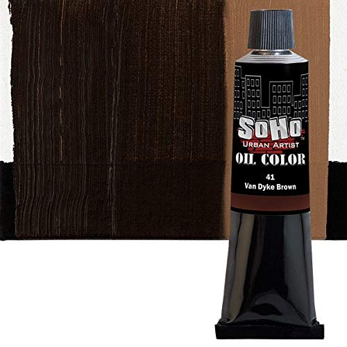 (SoHo Urban Artist Oil Color Paint and High Pigmented Professional Oil Paint - 170 ml Tube - Van Dyke Brown )