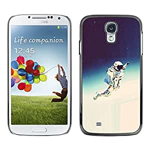// PHONE CASE GIFT // Duro Estuche protector PC Cáscara Plástico Carcasa Funda Hard Protective Case for Samsung Galaxy S4 / Espacio Astronauta Hipster /