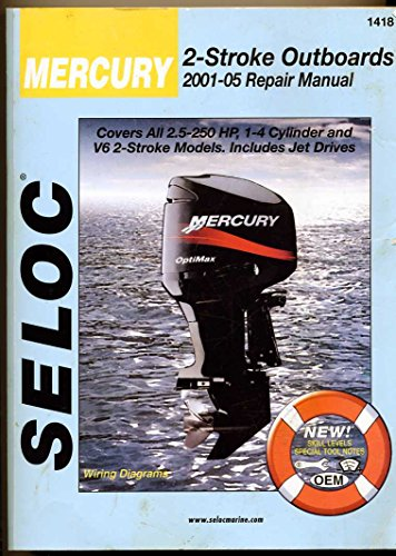 Mercury Outboards 2001-05 Repair Manual All 2-Stroke Engines