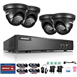 ANNKE 4CH 720P 5 in 1 Security Camera System, 1080P Lite HD TVI Security DVR with 4x 720P 1.0MP Indoor/Outdoor Camera, No HDD