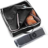 Bago Shoe Bags for Travel - Hanging Packing Cubes for Women Man Kids Storage. Modular Pouch for 1 or 2 sets of Shoes (Black)