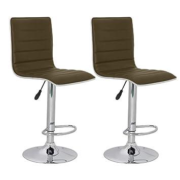 vidaXL 2 x DESIGN Barhocker Bar Stuhl Hocker LOUNGE Sessel Küche Barstühle  49