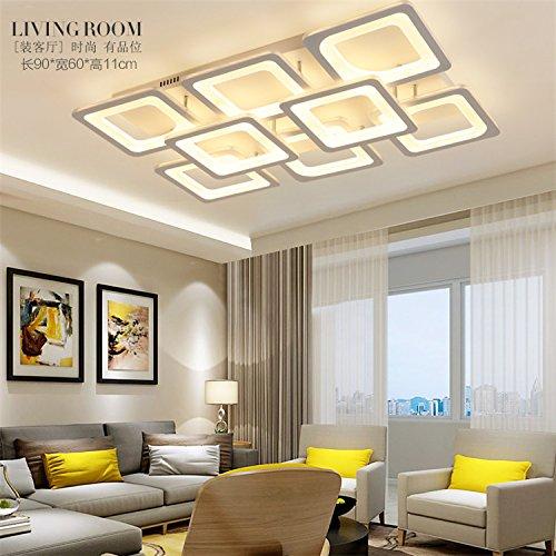 Die Postmoderne Welt Cube LED Kreative Heimat Minimalistische Acryl Decke  Wohnzimmer Schlafzimmer Decken Eisen Leistung 65 136w , Yellow Light , 8  Head 136w ...