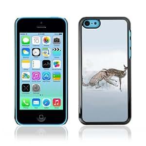 CQ Tech Phone Accessory: Carcasa Trasera Rigida Aluminio para Apple iPhone 5C - Funny Cheetah Illustration