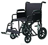Heavy Duty Transport Chair, Trnsprt Chr 22 in 400 Lb Blk, (1 EACH, 1 EACH)