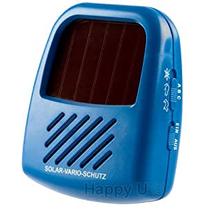 ISOTRONIC Solar Powered Ultrasonic Pest Repeller, Repel Mosquito Mice Rat Cockroach Marten Bug by Ultrasound