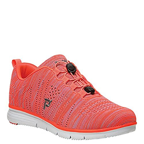 Propet Womens Travelfit Shoe & Oxy Cleaner Bundle Arancio / Rosa
