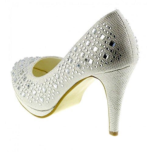 Scintillante Tacchi Footwear Scarpe Festa Kick Di Alti Classic Donna Corte Avorio Nozze 4W871