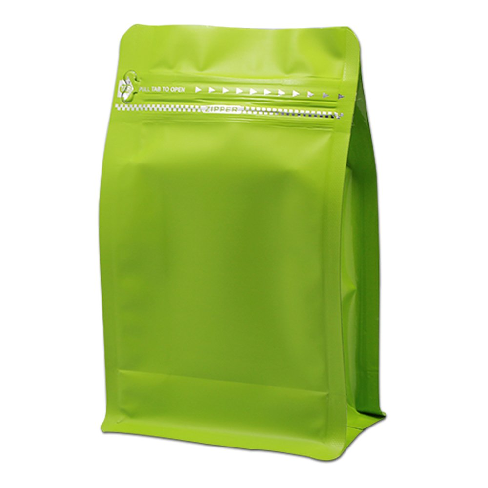 12 X 19.5 X 6.5cm Matte Multicolor Aluminum Foil Stand Up Ziplock Storage Pouch Mylar Pack Package High Temperature Heat Seal 8oz Coffee Bean Store Mylar Foil Packaging Bag 30 Pcs (Green)