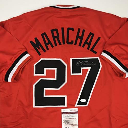 Autographed/Signed Juan Marichal San Francisco Orange Baseball Jersey JSA COA