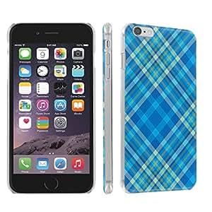 Skinguardz Iphone 6 (4.7) (Plaid-Blue) Ultra Slim Light Weight Plastic Cover Case