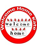 7.5 Inch Welcome Home Cake Toppers Decorations Personalised On Edible Rice Paper - [Please use the 'Contact Seller' link to send us your personalised message.]