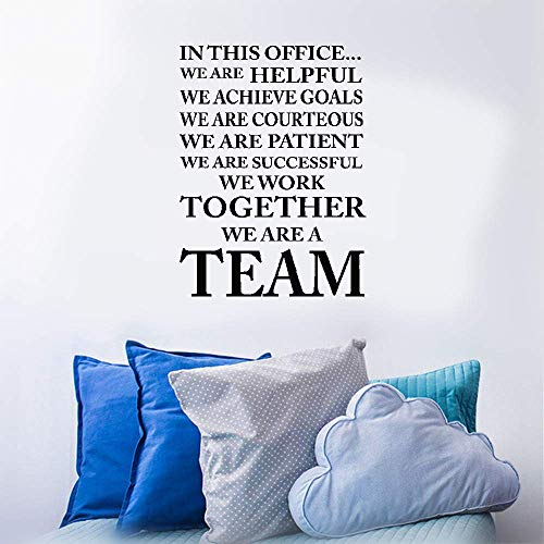 Tesfua Lettering Words Wall Mural DIY Removable Sticker Decoration in This Office We Achieve Goals We Work We are A Team Classroom Sport Football Cute Inspirational Family