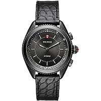 Michele Women's 38mm Blackened Hybrid Tracker Bluetooth Smartwatch (Black)