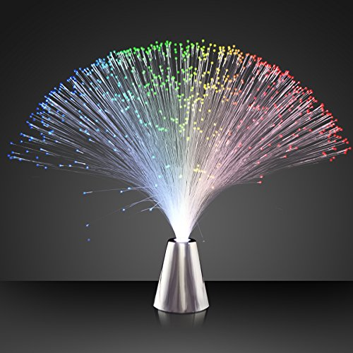 Light Up Fiber Optic Party Centerpieces with Color Changing LED Lights (Set of 12) -