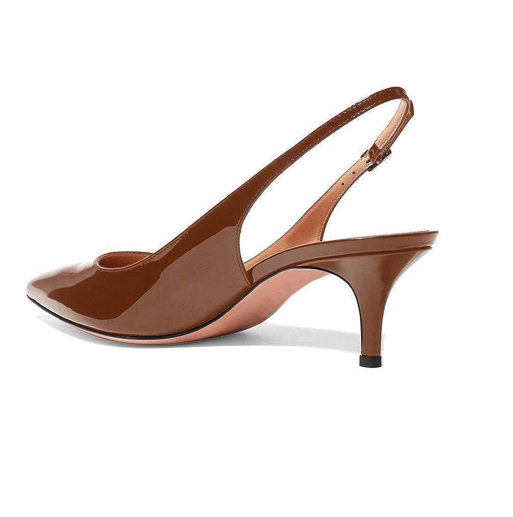 84c053673 Sammitop Women's Pointed Toe Slingback Shoes Kitten Heel Pumps Comfortable  Dress Shoes: Amazon.ca: Shoes & Handbags