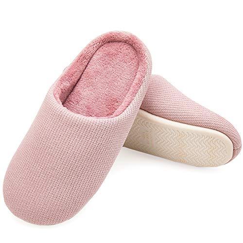 Clog Shoes Slipper Women's Slip House Home Foam Cozy Slipper Pink Indoor on Memory VIFUUR 07dqvB7