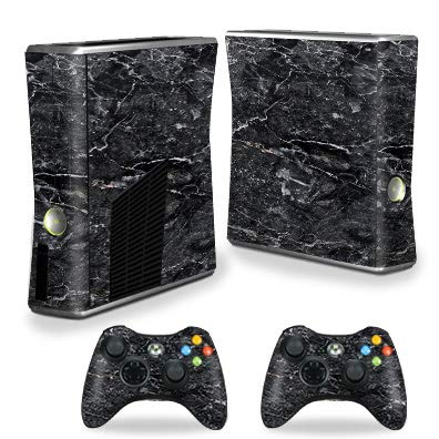 MightySkins Skin Compatible with Xbox 360 S Console - Onyx Marble | Protective, Durable, and Unique Vinyl Decal wrap Cover | Easy to Apply, Remove, and Change Styles | Made in The USA