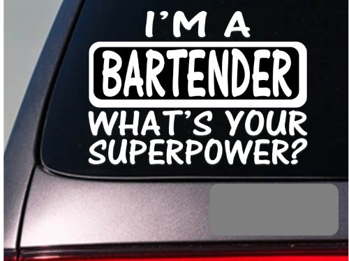 I'm a bartender sticker decal *E184* beer alcohol wine winery bottles cork (Bartender Sticker)