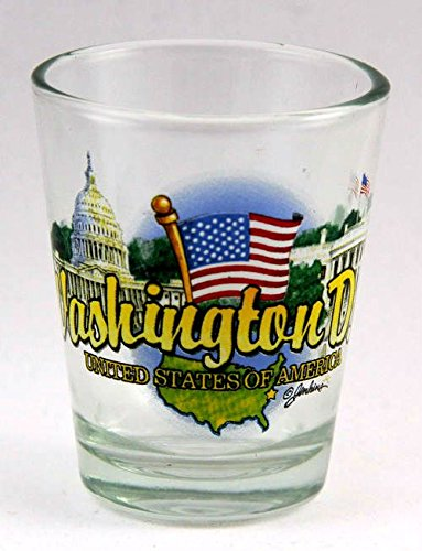 Washington DC State Elements Shot Glass (Best Souvenirs From Dc)