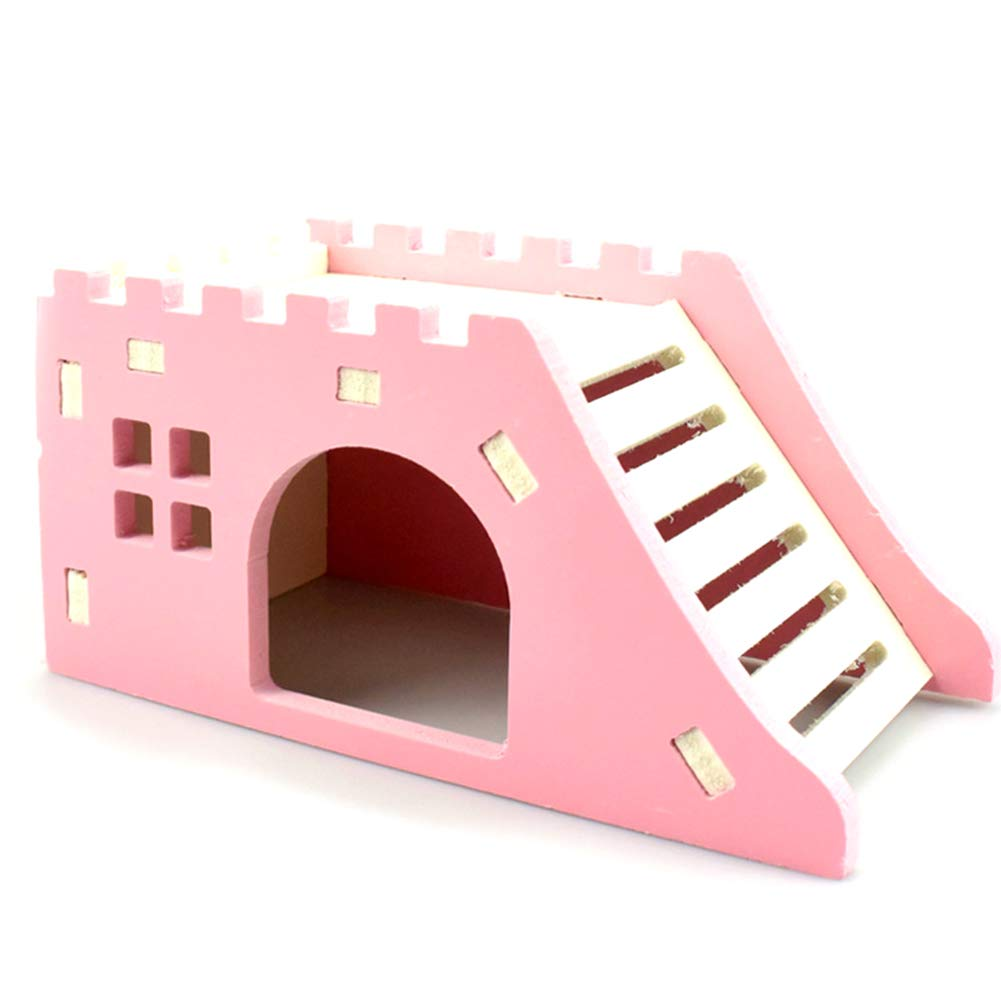 Rodite Hamster House Castillo de Madera Casa con Escalera Ratones ...