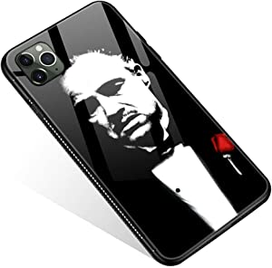 iPhone 11 Case,Tempered Glass iPhone 11 Cases Old Man for Women Girls Boys, Pattern Design Shockproof Anti-Scratch Case for Apple iPhone 11