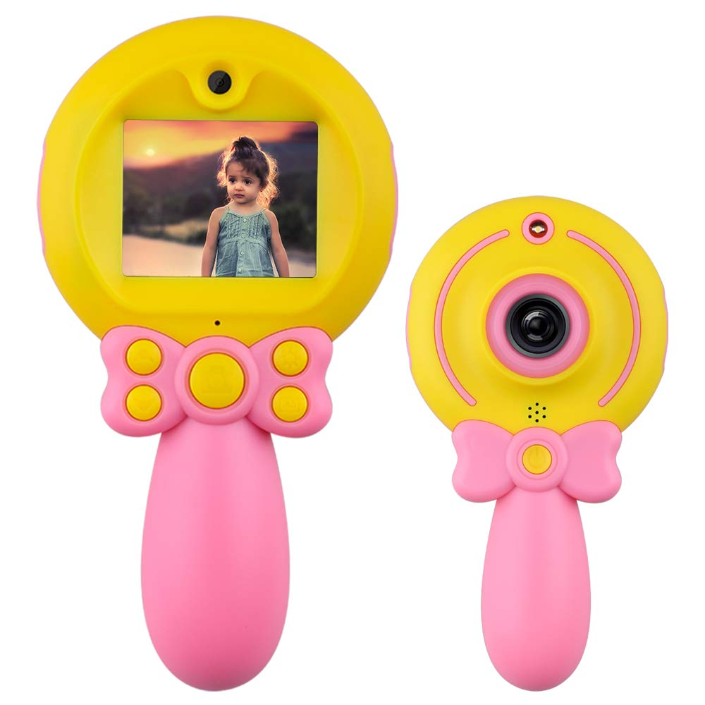 Shmily Camera Toy for Kids Girls, Digital Camera Gift for 4-12 Year Old Boys Children Electronics Toy for 4-12 Year Old Girl Kid Birthday Gifts Age 4-12 Girls Boy Camera Pink by Shmily