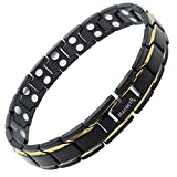 MagnetRX Ultra Strength Magnetic Therapy Bracelet Double Magnet Pain Relief for Arthritis and Carpal Tunnel