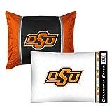 2pc NCAA Oklahoma State Cowboys Pillowcase and Pillow Sham Set College Team Logo Bedding Accessories