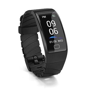 Abafia Pulsera Actividad, Pulsera Inteligente Impermeable IP68 Fitness Tracker Reloj Inteligente con GPS Pulsómetro Monitor Ritmo para Mujer Hombre ...