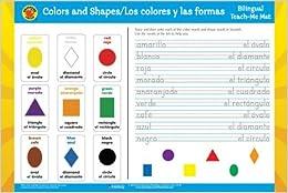 Los Colores y Las Formas/Colors and Shapes Spanish-English Teach-Me Mat Brighter Child: Edu-Mats Bilingual