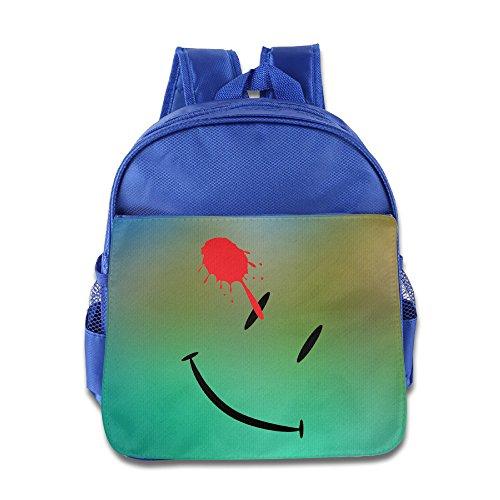 [DC The Watchmen Smiley Face Poster Kids School RoyalBlue Backpack Bag] (Hobo Costume For Toddler)