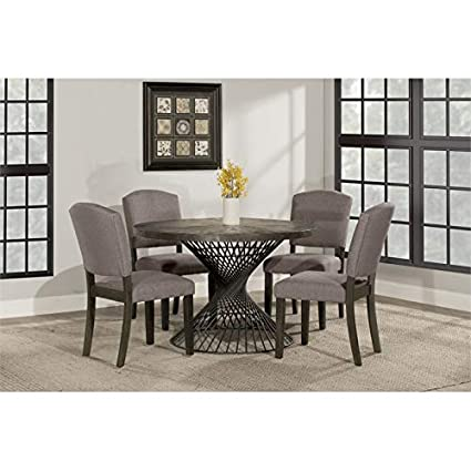 Amazon Com Hillsdale Furniture Kanister Round Dining Table Tables