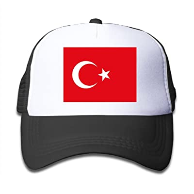 Futong Huaxia Turkish Flag Boy & Girl Grid Baseball Caps Adjustable sunshade Hat For Children