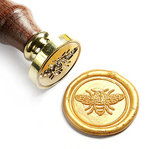 UNIQOOO Arts & Crafts Little Bee Wax Seal Stamp-Great for Embellishment of Envelopes, Invitations, Wine Packages, etc-Exceptional Gift Idea for Artistic Types and Everyone Else In Between