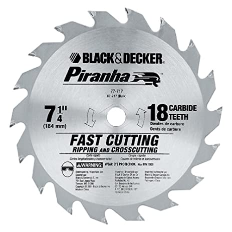 Black decker 77 717 piranha 7 14 inch 18 tooth atb thin kerf black decker 77 717 piranha 7 14 inch 18 tooth greentooth Choice Image