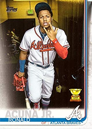 Amazoncom 2019 Topps 1 Ronald Acuna Jr Baseball Card