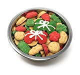 Gourmet Christmas Dog Treats in Stainless Steel Bowl (Small, Standard)