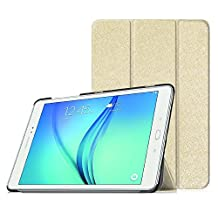 Fintie Samsung Galaxy Tab A 9.7 Smart Shell Case - Ultra Slim Lightweight Stand Cover with Auto Sleep/Wake Feature for Samsung Galaxy Tab A 9.7-Inch Tablet SM-T550, Gold